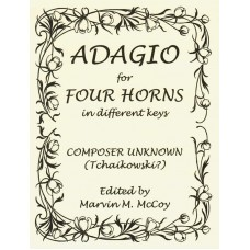 ADAGIO for Four Horn in Different Keys - Digital Download
