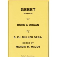GEBET (Prayer) for Horn and Organ, Op. 65a - Digital Download