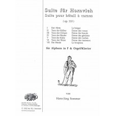 SUITE FOR HORNVIEH, Op. 110 for Alphorn in F with Organ/Piano - Digital Download
