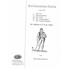 GULDENTALER SUITE, Op. 163 for Alphorn in F with Organ - Digital Download