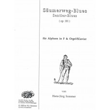 SAUMERWEG - BLUES Op. 181 for Alphorn in F with Organ/Piano - Digital Download